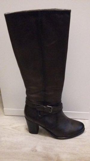 Tamaris Heel Boots dark grey leather