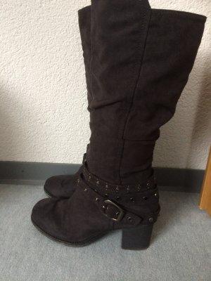 Graue Stiefel mit Nieten von Graceland, Gr. 38