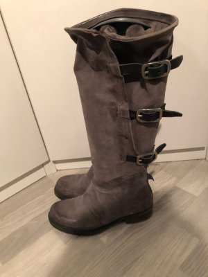 A.S.98 High Boots taupe-dark grey leather