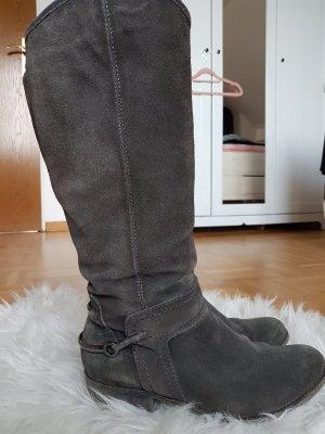 graue Stiefel von Marco Tozzi
