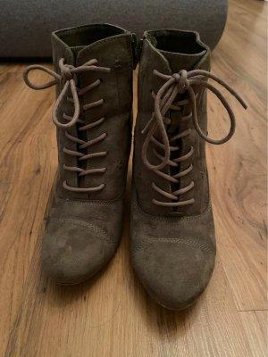 Graceland Bottines à lacets gris brun