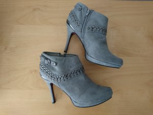 Catwalk Zipper Booties grey