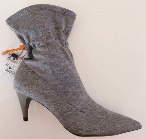 Zara Stretch Boots light grey