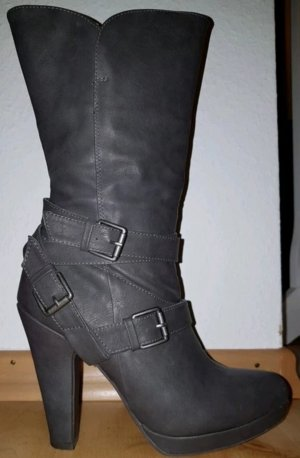 Anna Field Botines gris-gris oscuro