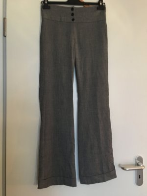 Graue Stoffhose im Marlene-Stil, H&M, Größe 34
