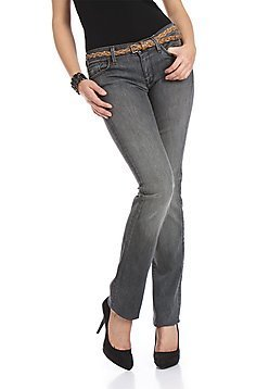 Graue Straight Leg Jeans 7 For All Mankind 28x34