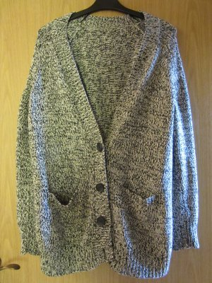 Coarse Knitted Jacket silver-colored