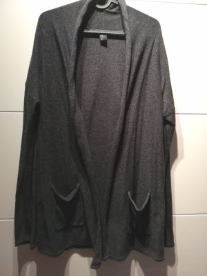 Graue Strickjacke H&M 40% Baumwolle