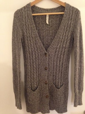 Aeropostale Knitted Cardigan grey-silver-colored