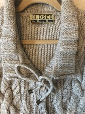 Closed Coarse Knitted Jacket light grey