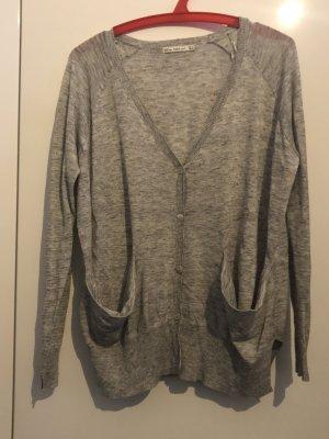 Graue Strickjacke von Zara weiter Schnitt Baumwolle