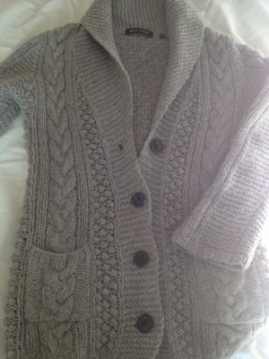 graue Strickjacke Wolle Marc'o'Polo