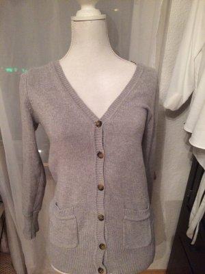 Graue Strickjacke Zara M aus dicker Baumwolle