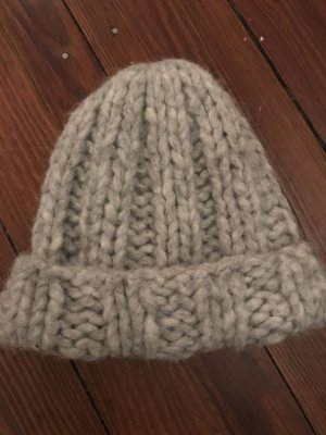 Acne Studios Beanie silver-colored wool