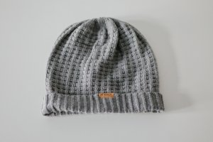 Barts Knitted Hat grey-brown mixture fibre