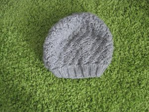 H&M Knitted Hat grey cotton