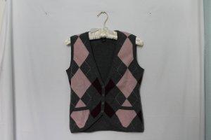 Gant Gilet tricoté multicolore laine