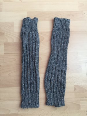 graue Stulpen Wintersocken