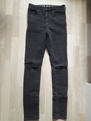 graue Super Stretch Jeans