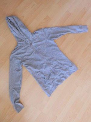 graue Sweat Jacke ohne Bänder