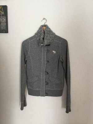 Graue Sweatshirtjacke von Abercrombie&Fitch