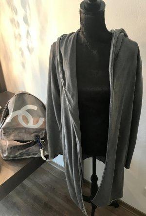 Graue Sweatshirtstoff Jacke