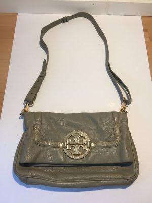 Graue Tory Burch Leder-Handtasche