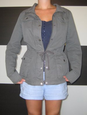 Manguun Parka grey-silver-colored cotton