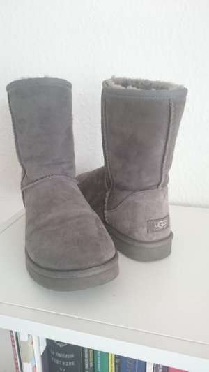 UGG Australia Snow Boots grey-light grey suede