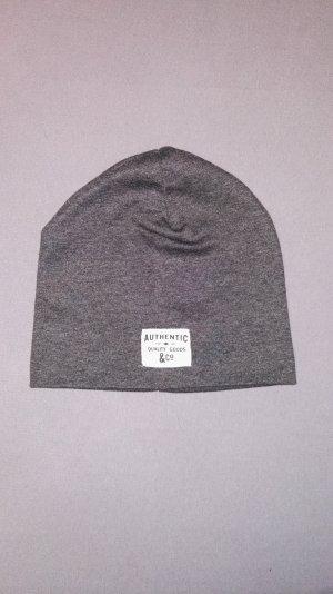 H&M Sombrero de tela gris Poliéster