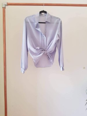 Graue Vintage Bluse