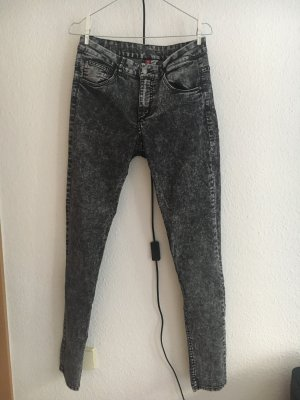 Graue Washed Out Skinny Jeans von H&M