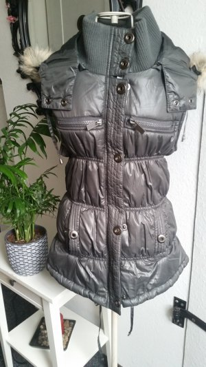Hooded Vest grey