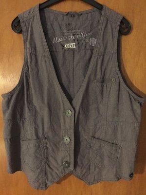 Cecil Gilet de costume gris-noir