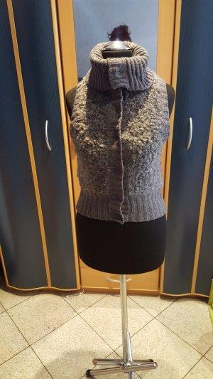 H&M Smanicato di pelliccia grigio Lana