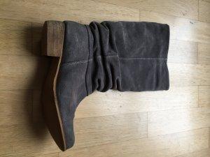 Graue Wildleder Stiefel Größe 39