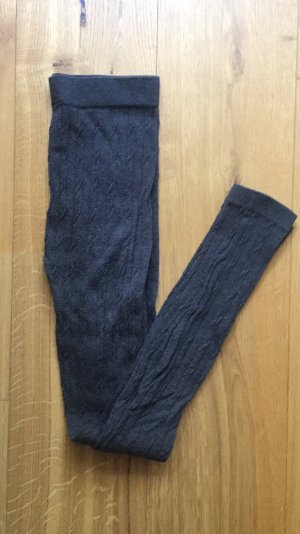 Graue winterliche Leggings in Strickoptik