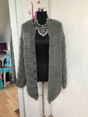 Chaqueta de lana gris oscuro
