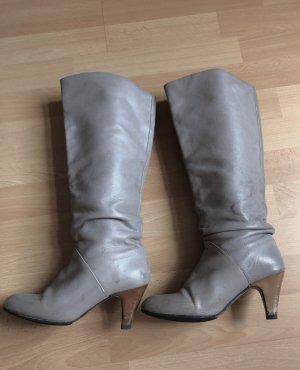 Graue Zara Stiefel 37