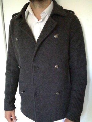 Zara Cardigan gris foncé laine