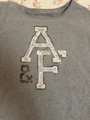 Grauer Abercrombie & Fitch Pullover