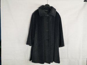 Walbusch Pelt Coat grey alpaca wool