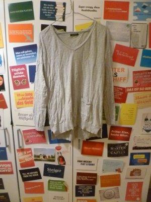 Promod V-Neck Sweater grey-light grey