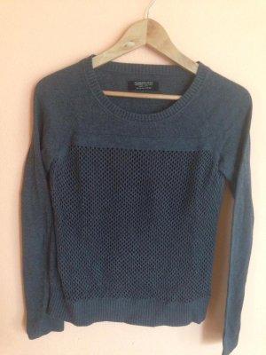Grauer Baumwoll Pullover mit lila touch von All Saints mit coolem Muster