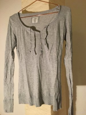 Grauer Baumwoll-Pullover von L.O.G.G./H&M Größe M