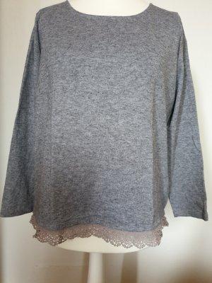 Pull tricoté argenté