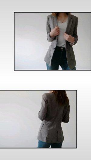H&M Blazer boyfriend gris clair-gris