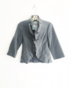 Anthropologie Short Blazer grey-light grey