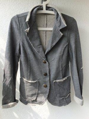 Grauer Blazer aus Baumwolle