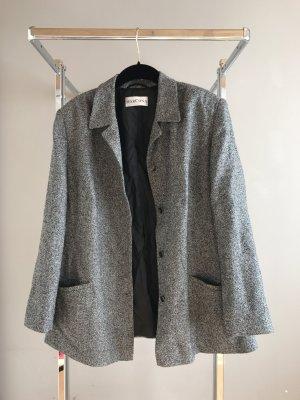 Veste chemisier gris-blanc
